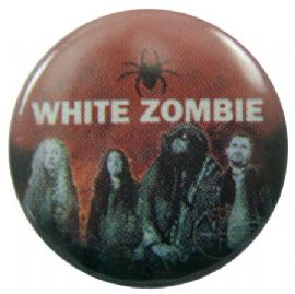 White Zombie - 'Group Spider' Button Badge